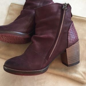 Anthropologie Felmini leather ankle boots